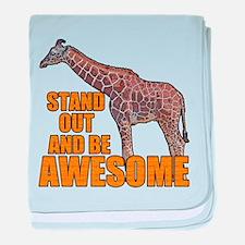 Stand Tall Giraffe baby blanket