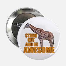 """Stand Tall Giraffe 2.25"""" Button"""