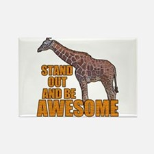 Stand Tall Giraffe Rectangle Magnet