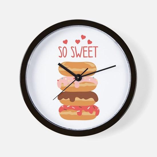So Sweet Donuts Wall Clock