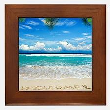 Welcome Summer Framed Tile