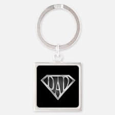 Super Dad with Black Background Keychains