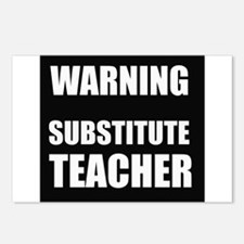 Warning Substitute Teacher Postcards (Package of 8