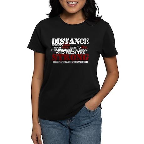 Feeds the strong: USMC Fiance Women's Dark T-Shirt