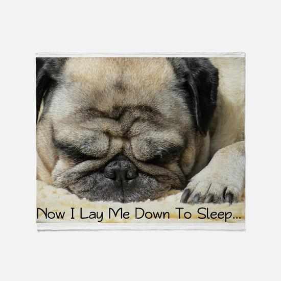 Pug Praying Throw Blanket