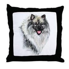 Keeshond #2 Throw Pillow