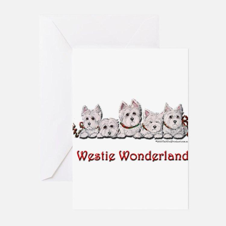 Cute Westie art Greeting Cards (Pk of 20)