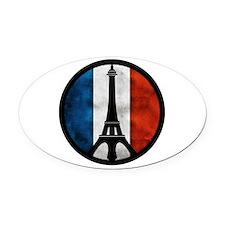 Peace in Paris 2 Oval Car Magnet