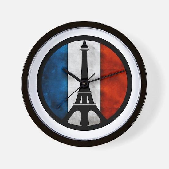 Peace in Paris 2 Wall Clock