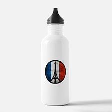 Peace in Paris 2 Water Bottle