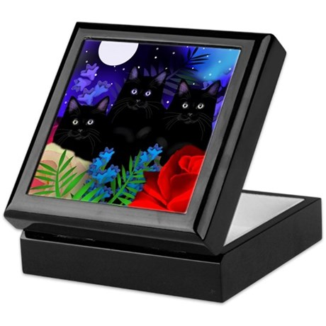 BLACK CATS MOON Keepsake Box