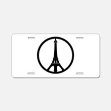 Peace in Paris Aluminum License Plate