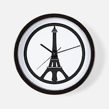Peace in Paris Wall Clock