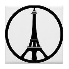 Peace in Paris Tile Coaster