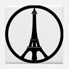 Peace in Paris Tile Coaster