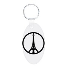 Peace in Paris Keychains