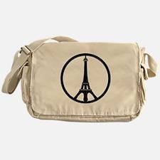 Peace in Paris Messenger Bag