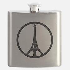 Peace in Paris Flask