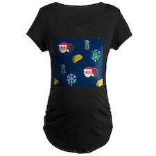 christmas taco emoji Maternity T-Shirt