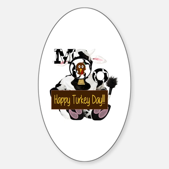 Cute Thanksgiving Sticker (Oval)
