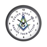 Taking Good Men Masonic Wall Clock