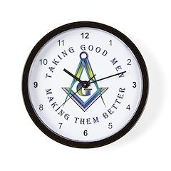 Taking Good Men Masonic Wall Clock