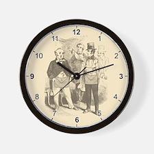 Masons Meeting Wall Clock