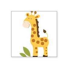 "Cute Safari Square Sticker 3"" x 3"""