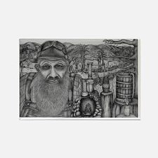 Cute Popcorn sutton Rectangle Magnet