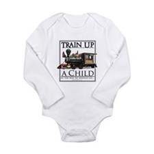 Unique Railroad track Long Sleeve Infant Bodysuit