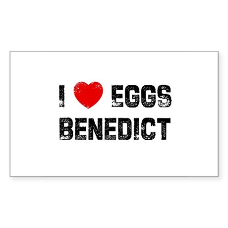 I * Eggs Benedict Rectangle Sticker
