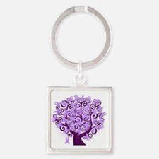 Cute Epilepsy awareness Square Keychain