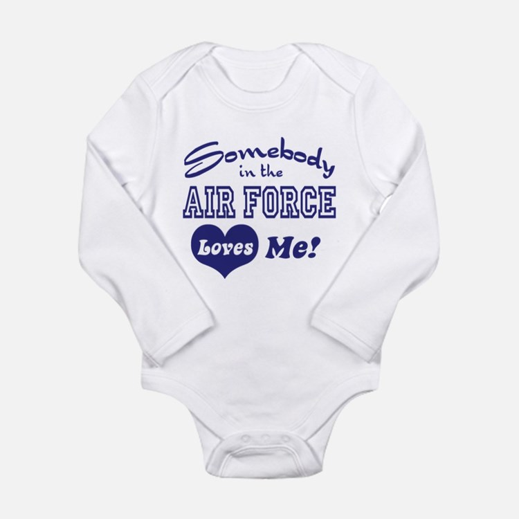 Cute Air force wife Long Sleeve Infant Bodysuit