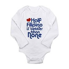 Cute Half asian Long Sleeve Infant Bodysuit