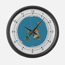 "Flat Earth 2 Large Wall Clock 14.5"""