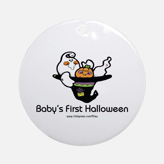 Baby's First Halloween Ornament (Round)