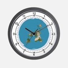 Flat Earth 2 Wall Clock 9.5""