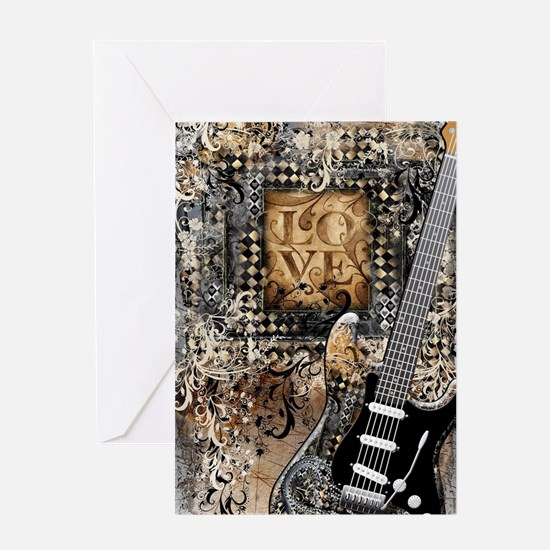 Funny Electric guitar Greeting Card