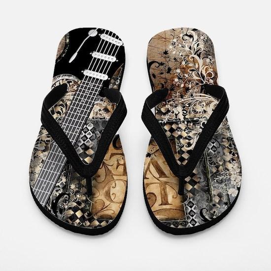 Unique Guitar Flip Flops