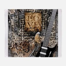 Guitar Love Guitarist Music Design Throw Blanket