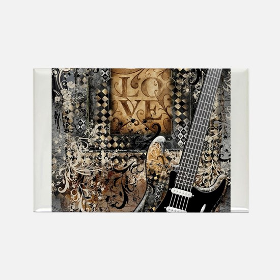 Guitar Love Guitarist Music Design Magnets
