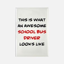 awesome school bus driver Rectangle Magnet