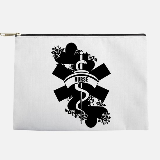 Nurse Heart Tattoo Makeup Bag