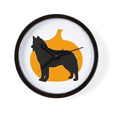 Siberian Husky Halloween Wall Clock