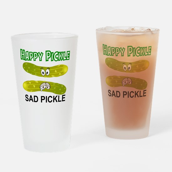 Cute Pickle Drinking Glass