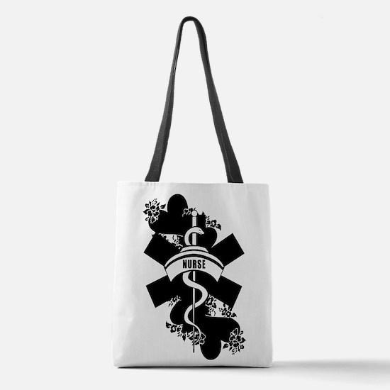 Nurse Heart Tattoo Polyester Tote Bag