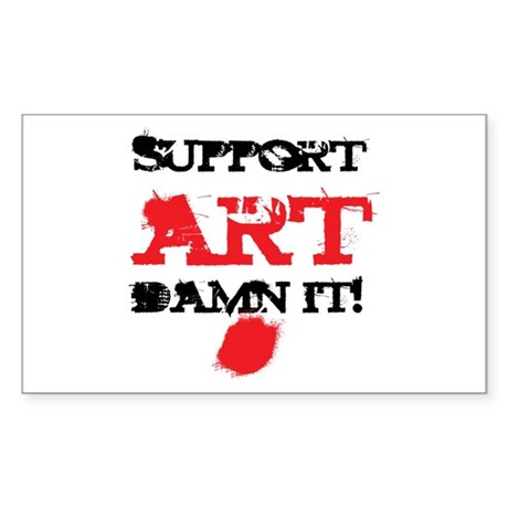Support ART Damn It! Rectangle Sticker