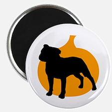 """Pit Bull Terrier Halloween 2.25"""" Magnet (100 pack)"""