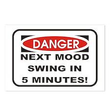 Danger Next Mood Swing in 5 M Postcards (Package o
