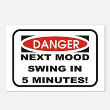 Danger Next Mood Swing in 5 M Postcards (Package o